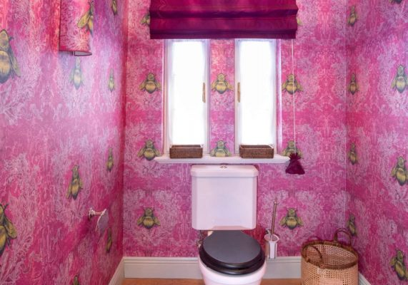 pinkes Badezimmer